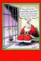 Santa in Jail (1 card/1 envelope) Nobleworks Funny Christmas Card