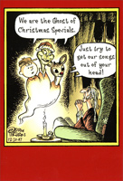 Ghosts of Christmas Specials (1 card/1 envelope) Nobleworks Funny Christmas Card