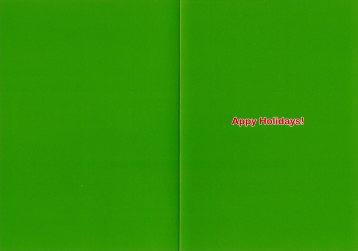 Appy Holidays (12 cards/12 envelopes) - Boxed Christmas Cards - FRONT: Peace on Earth, good will toward men? There's an app for that!  INSIDE: Appy Holidays!