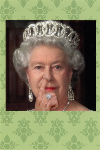 queen picked card funny  humorous birthday cardnobleworks