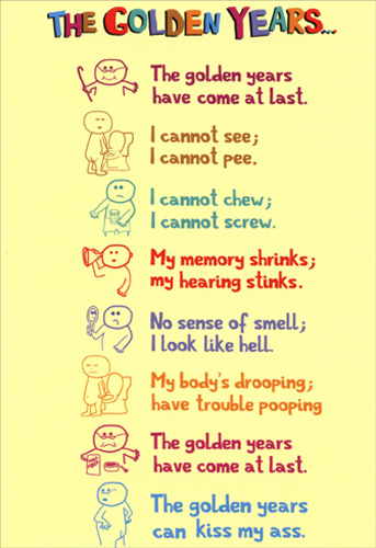 Golden Years Nobleworks Funny Birthday Card Greeting Card By