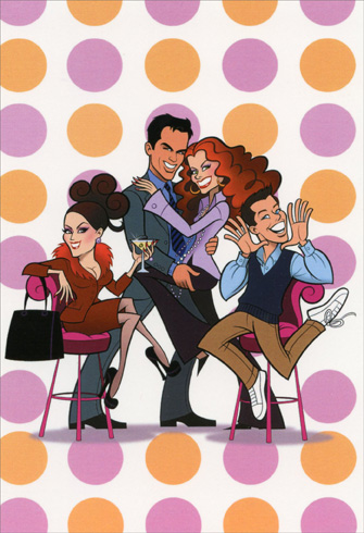Divas - Will & Grace (1 card/1 envelope) Nobleworks Funny Birthday Card - FRONT: No Text  INSIDE: It takes will to age with grace.  Happy Birthday!