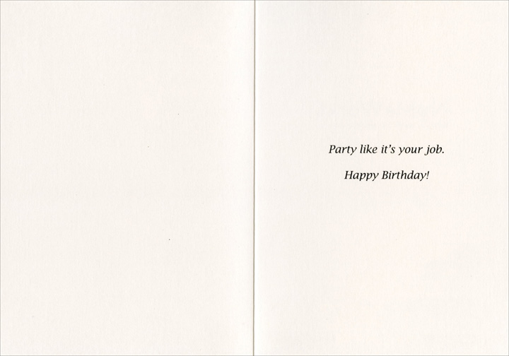 Job security funny humorous birthday card by nobleworks inside m4hsunfo