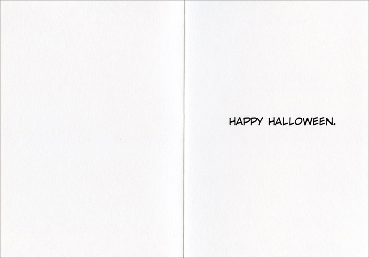 I Am Full (1 card/1 envelope) Nobleworks Funny Halloween Card - FRONT: You get this one, I'm full!  INSIDE: Happy Halloween