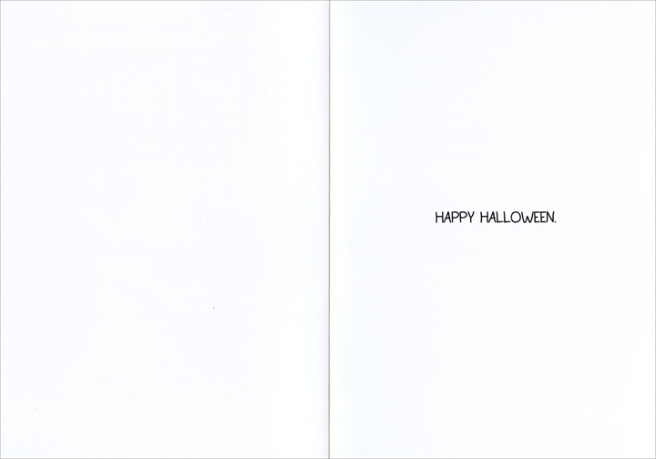 Cheese Wiz (1 card/1 envelope) - Halloween Card - FRONT: The secret origin of Cheese Wiz  INSIDE: Happy Halloween.