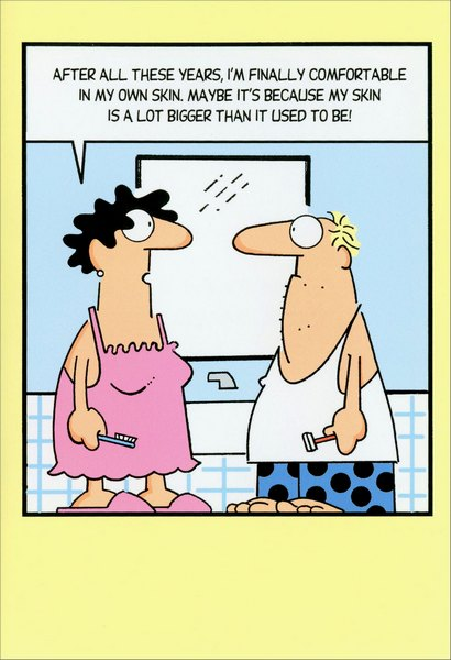 Couple in Bathroom (1 card/1 envelope) Nobleworks Funny ...