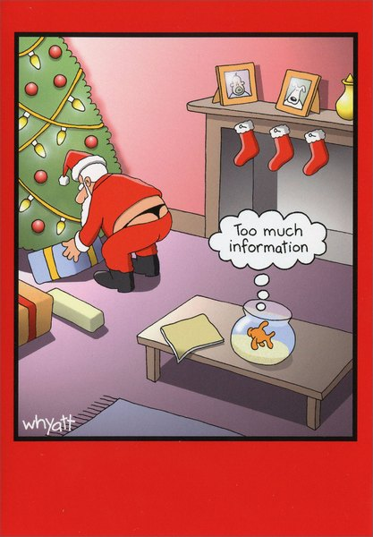 Humorous Christmas Cards.Too Much Information Funny Humorous Christmas Card By