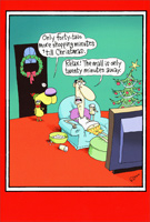 Last Minute Shopping Funny / Humorous Christmas Card by Nobleworks