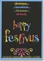 Happy Fesitvus (1 card/1 envelope) - Money Holder