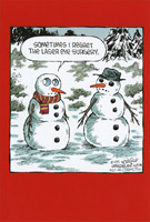 Laser Eye Surgery Snowman Box of 12 Christmas Cards