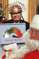 Trump Truth Meter Box of 12 Christmas Cards