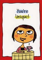 You're Unique (1 card/1 envelope) Oatmeal Studios Funny Birthday Card