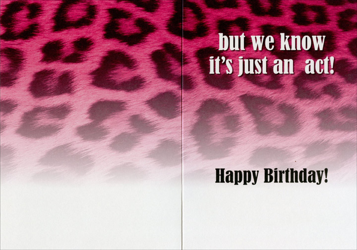 Snooki: Act Responsibly (1 card/1 envelope) Oatmeal Studios Funny Birthday Card - FRONT: At your age you're old enough to act responsibly�  INSIDE: but we know it's just an act!  Happy Birthday!