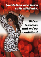 Snooki: Born with Attitude (1 card/1 envelope) - Birthday Card - FRONT: Guidettes are born with attitude.  We're fearless and we're confident�  INSIDE: And we're not afraid of getting older!  Happy Birthday!