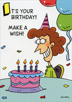 Birthday Wish (1 card/1 envelope) - Birthday Card