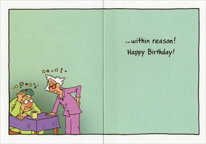 Elderly Couple Dancing Funny Humorous Birthday Card By Oatmeal Studios