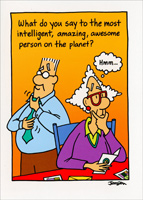 Intelligent, Amazing, Awesome Person (1 card/1 envelope) Oatmeal Studios Funny Birthday Card