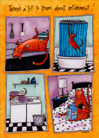 Retired Cat (1 card/1 envelope) Oatmeal Studios Funny Retirement Card