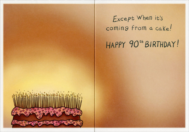 Adore Candlelight Funny Humorous 90th Birthday Card By Oatmeal Studios