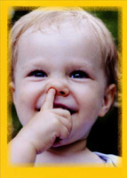 Baby Nose Picker (1 card/1 envelope) - Birthday Card  INSIDE: You're #1 in my book! Happy Birthday!
