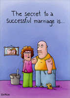 Successful Marriage (1 card/1 envelope) Oatmeal Studios Funny Anniversary Card