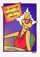 Getting Lucky (1 card/1 envelope) Oatmeal Studios Funny Birthday Card