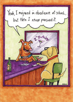 Dogs Talking At Bar (1 card/1 envelope) Oatmeal Studios Funny Birthday Card