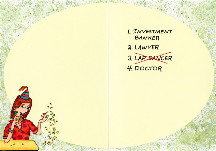 Forty Year Old Career Change Funny 40th Birthday Card by Oatmeal – Lawyer Birthday Card