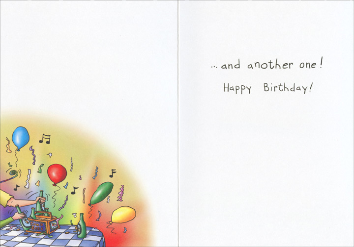 To a Long Life (1 card/1 envelope) Oatmeal Studios Funny Birthday Card - FRONT: To a long life, and a good one. To a lotto ticket, and a winning one. To good friends and lots of fun. To a cold beer�  INSIDE: �and another one! Happy Birthday!