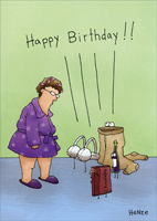Woman's Support Group (1 card/1 envelope) Oatmeal Studios Funny Birthday Card