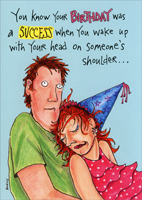 Birthday Success (1 card/1 envelope) Oatmeal Studios Funny Birthday Card