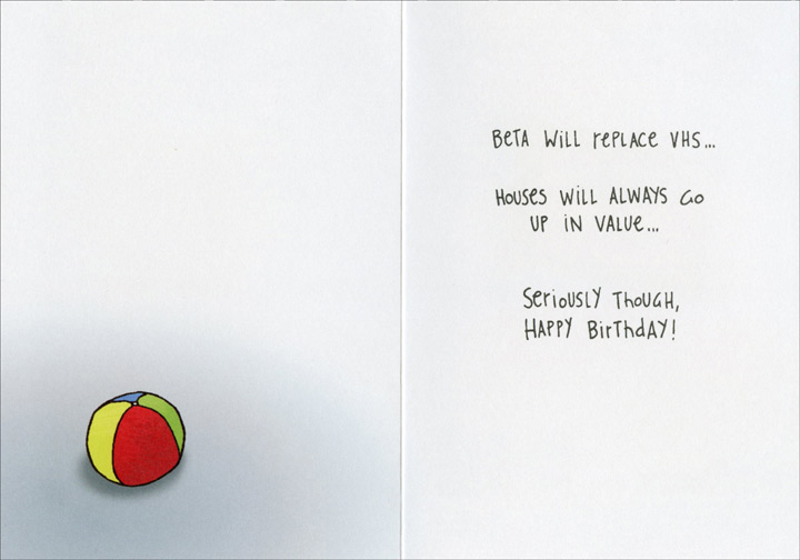 Birthday sayings funny birthday card greeting card by oatmeal greeting cards shipped using usps first class package are normally shipped in a white or kraft non bendable mailer and cards shipped via usps priority mail bookmarktalkfo Images