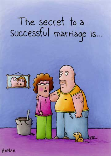 Successful Marriage Funny Anniversary Card - Greeting Card by ...