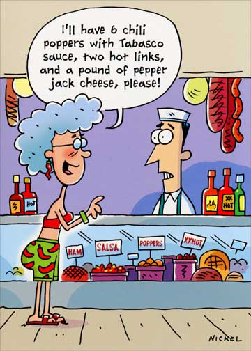Spicy Hot Order Funny Humorous Birthday Card By Oatmeal Studios