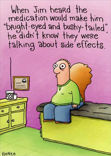Bright Eyed Bushy Tailed Funny Get Well Card Greeting Card By