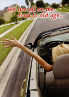 Road To Old Age (1 card/1 envelope) Oatmeal Studios Funny Birthday Card