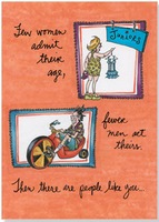Few Women Admit Their Age (1 card/1 envelope) Oatmeal Studios Funny Birthday Card