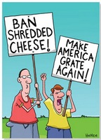 Ban Shredded Cheese (1 card/1 envelope) Oatmeal Studios Funny Birthday Card