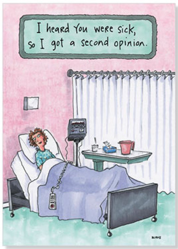 A Second Opinion Funny Get Well Card By Oatmeal Studios