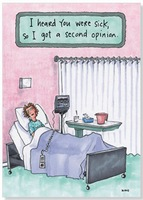 A Second Opinion (1 card/1 envelope) Oatmeal Studios Funny Get Well Card