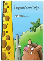 Tall Giraffe, Warthog and Ant Eater (1 card/1 envelope) Oatmeal Studios Funny Birthday Card