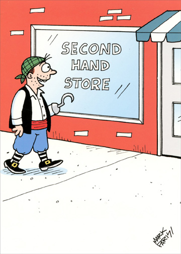 Second Hand Store Funny Birthday Card Greeting Card By Oatmeal