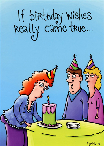 Wishes Really Come True Funny Birthday Card By Oatmeal Studios
