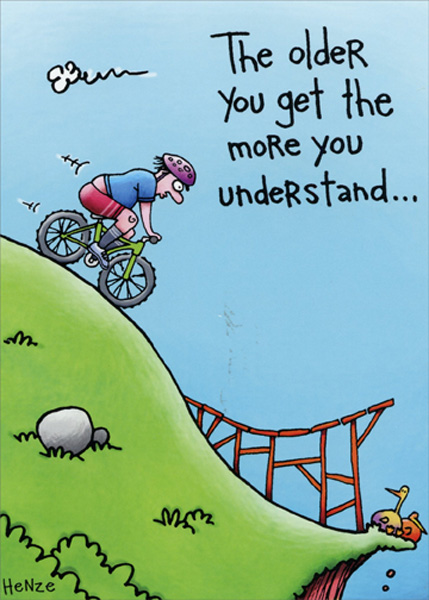 Details About Mountain Bike Ramp Stunt Funny Birthday Card
