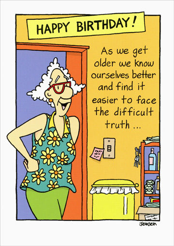 Face the difficult truth funny humorous birthday card by oatmeal face the difficult truth funny humorous birthday card by oatmeal studios bookmarktalkfo Choice Image