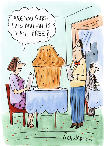 Fat Free Muffin Funny Humorous Birthday Card By Oatmeal Studios
