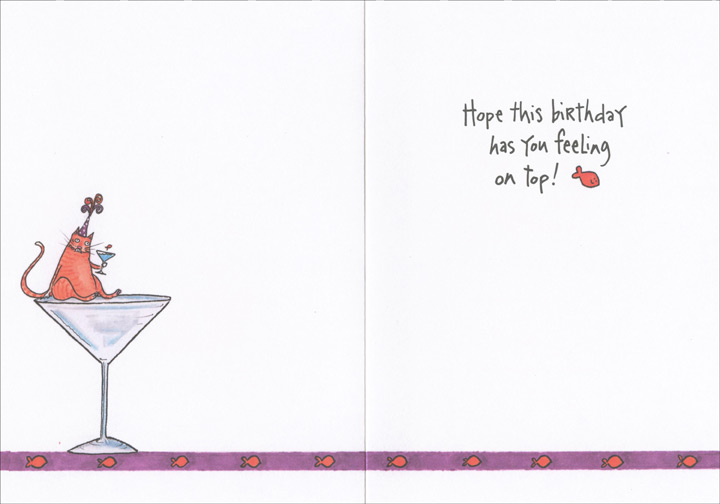 Cat on counter funny humorous birthday card by oatmeal studios inside bookmarktalkfo Image collections