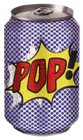 Soda Pop Can (1 card/1 envelope) Paper House Productions Die Cut Blank Card