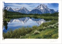 Grand Tetons: Claudia Kuhn (1 card/1 envelope) Paper House Artist Series Blank Card