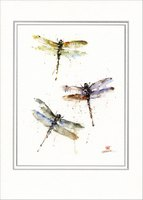Dragonflies: Dean Crouser (1 card/1 envelope) Paper House Artist Series Blank Card